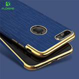 FLOVEME Blue Luxury Plating Soft Cases For iPhone